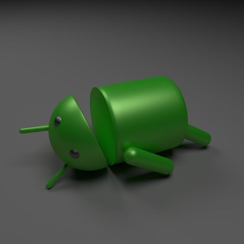 logo de android sobre una superficie color gris