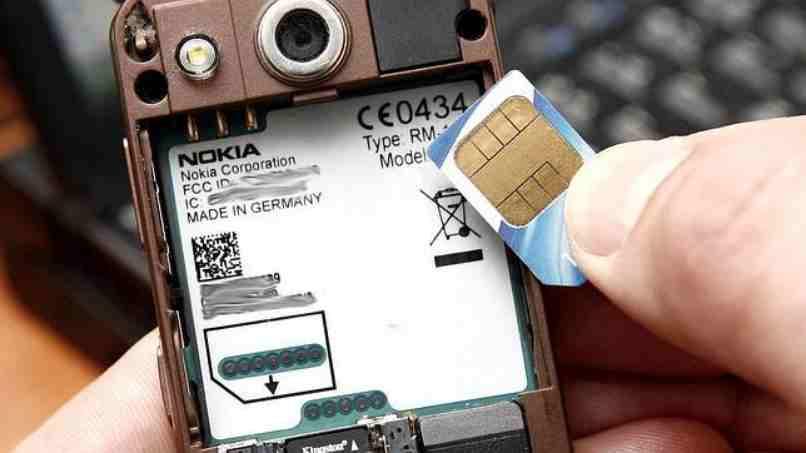 celular nokia sim card abierto