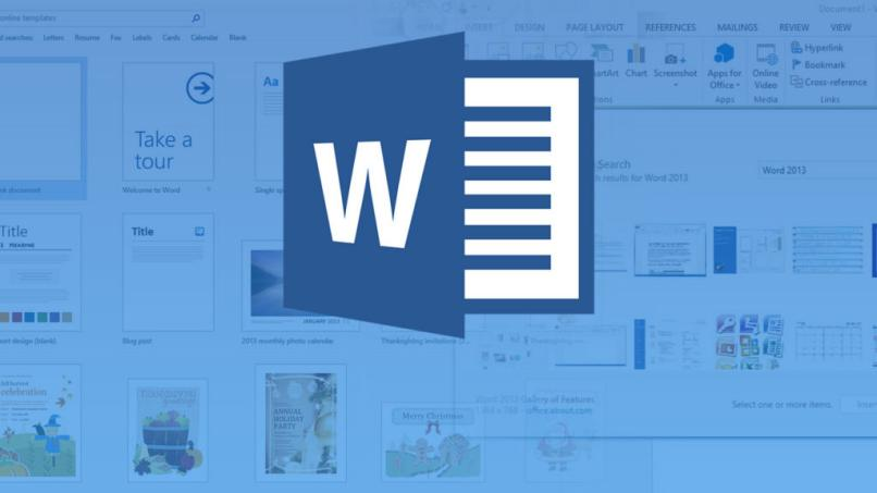 microsoft word logo azul