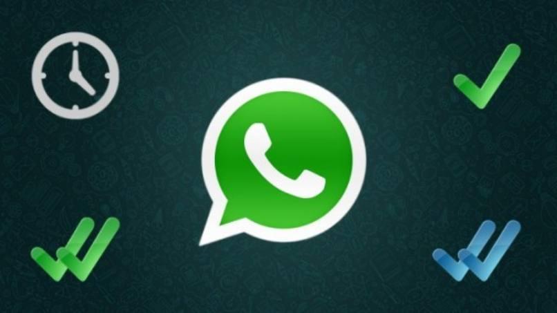 logo whatsapp visto error enviar mensajes fondo oscuro