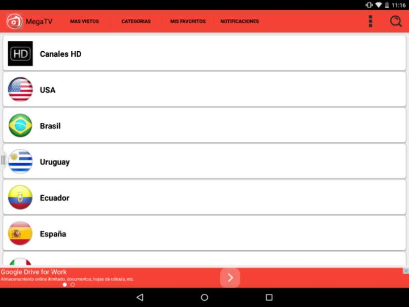 megatv player canales hd android gratis
