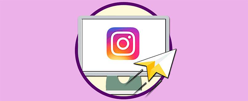 mensajes privados de instagram vistos desde el ordenador