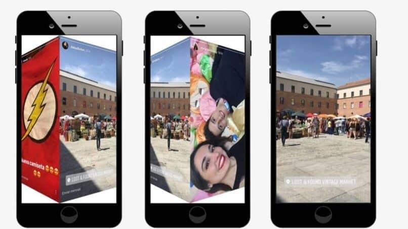 dispositivos moviles con fotos en sus pantallas