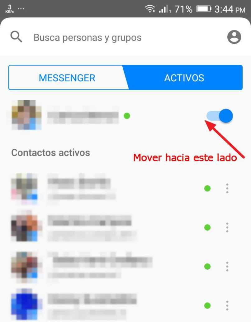 chat messenger contactos facebook