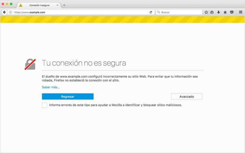 mensaje de certificado ssl sin https navegador web