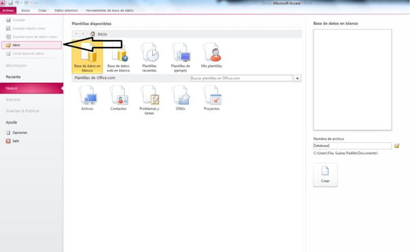 formas de editar documentos y base de datos mediante la herramienta worpad