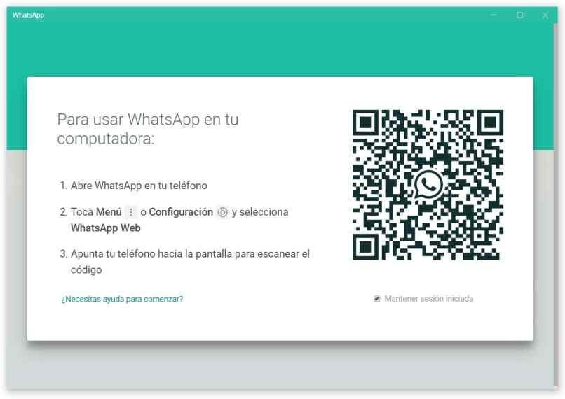 whatsapp web pagina principal escanear codigo qr instrucciones