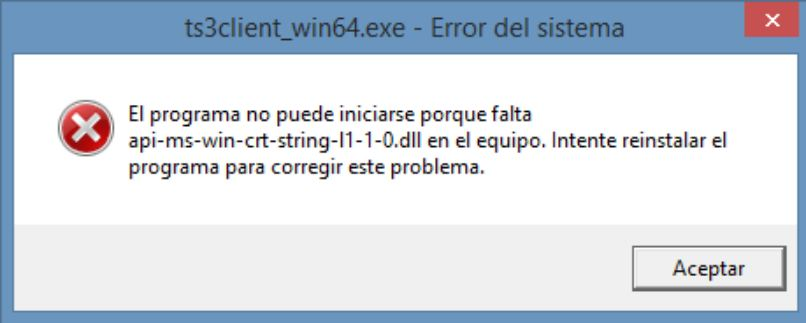 ventana advertencia error sistema windows