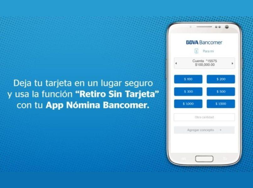 app nomina bancomer bbva fondo azul movil blanco