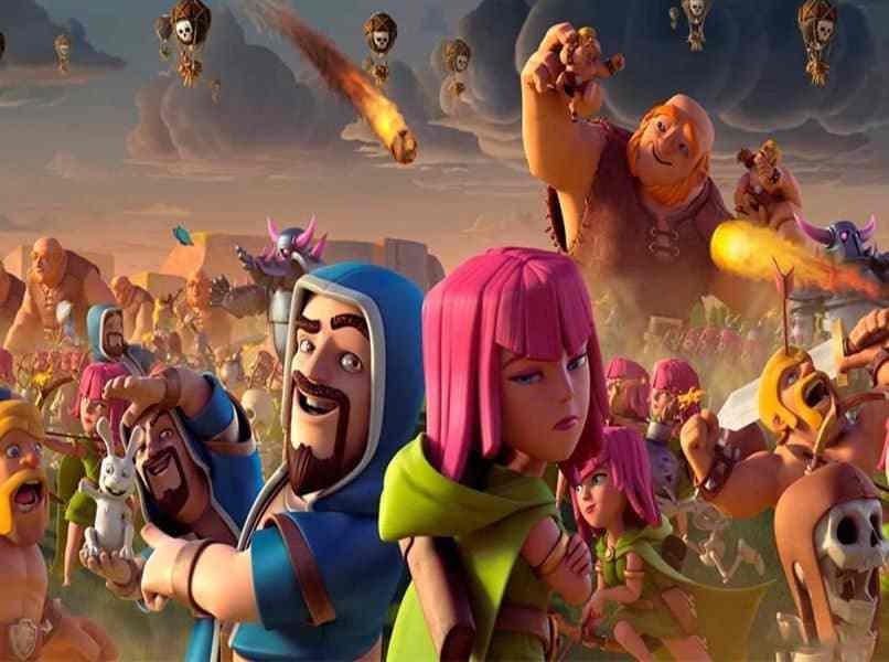 personajes de clash royale 3 en batalla