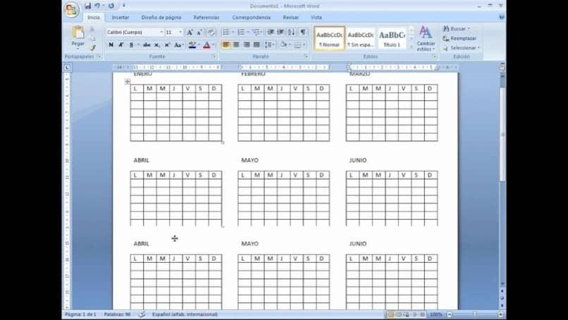 crear calendarios con microsoft word