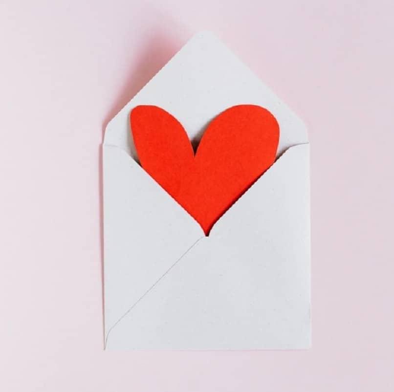 carta corazon amor mensaje