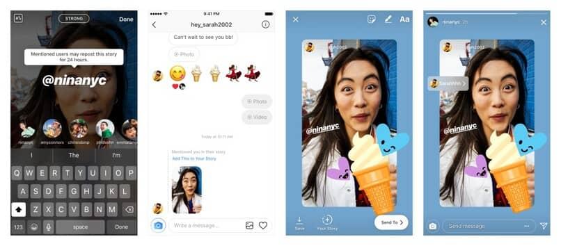 compartir instagram stories
