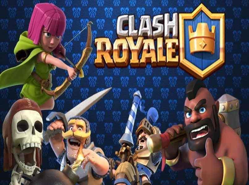 personajes de clash royale 3 fondo azul