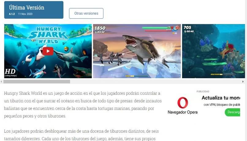 descargar mejores juegos tiburones