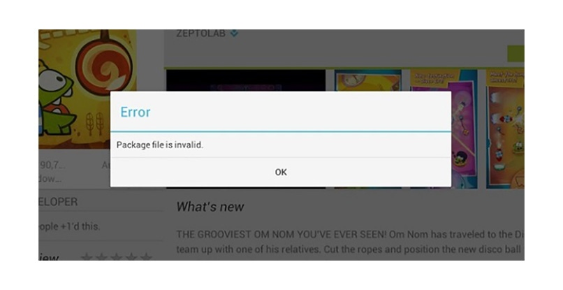 error ventana google play