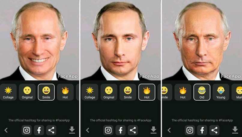 presidente rusia faceapp