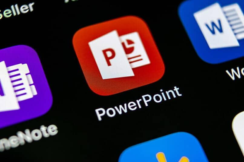 icono de powerpoint fondo negro