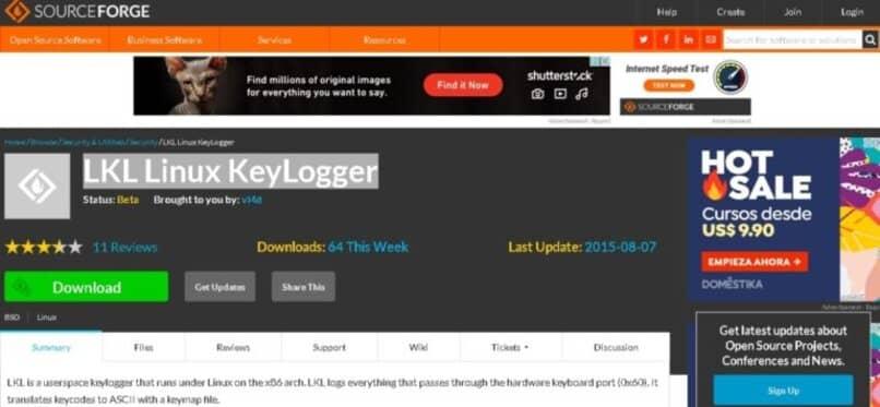 linux keylogger aplicacion cambiar