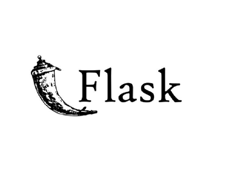 logo flask colo negro fondo blanco