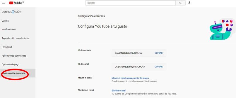 borra cuenta youtube