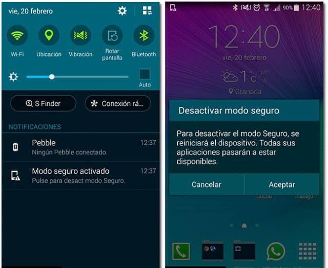 desactivar dispositivo android