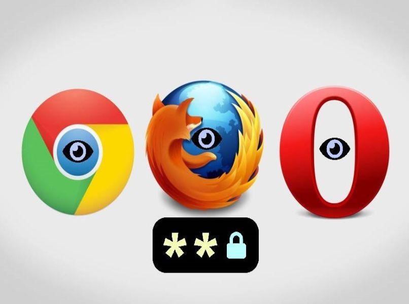 passwor en navegadores web fondo blanco