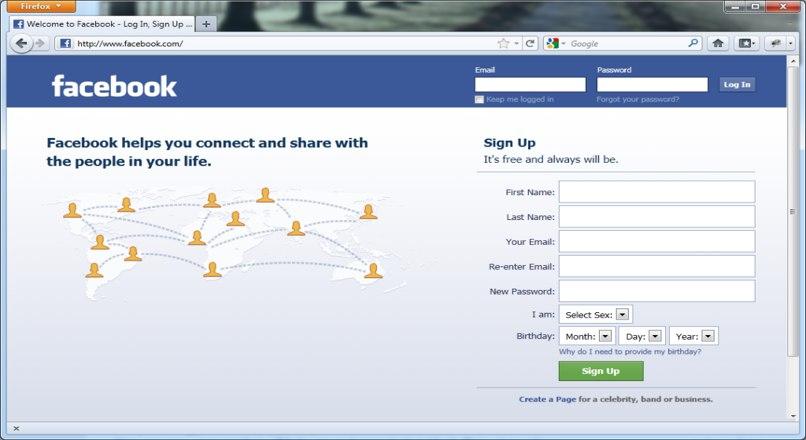 ingresar pagina facebook pc