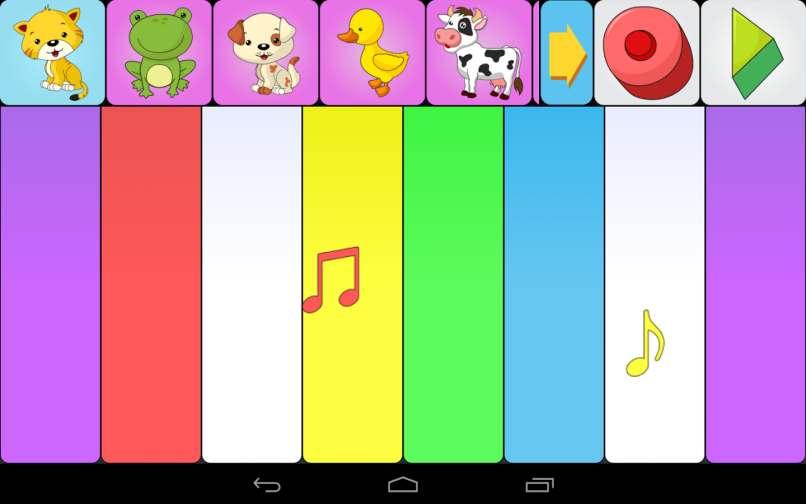 aplicacion piano colores