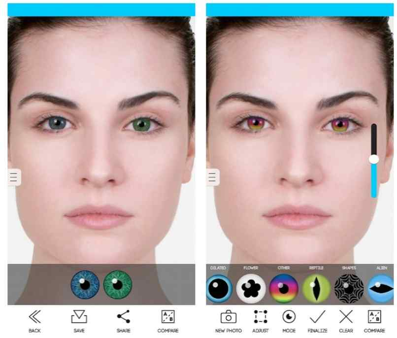eye color studio prueba