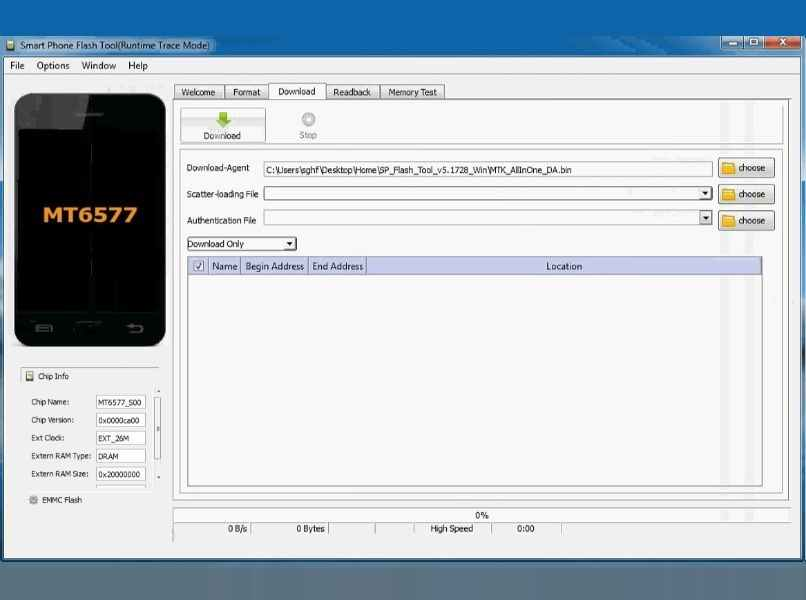 ventana smart phone flash tool