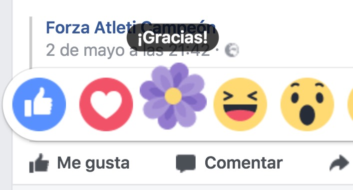 tener y activar la reaccion de flor en facebook