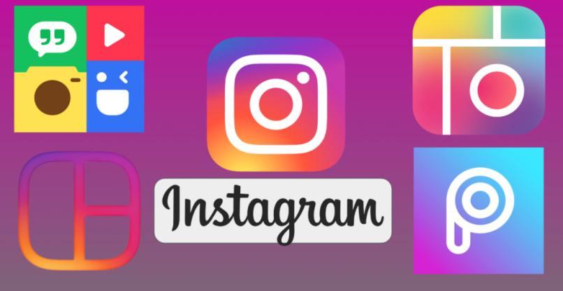 logos aplicaciones hacer collage mosaico instagram