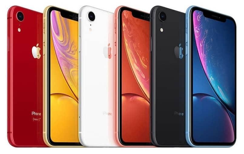 iphones de varios colores