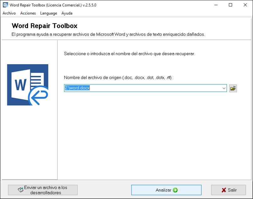 reparar archivos dañados