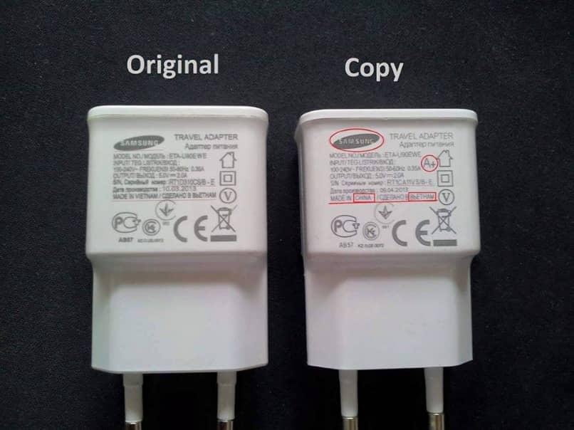 cargadores samsung original clon diferencias