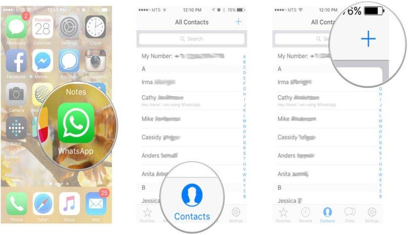 administrador agrega contacto whatsapp
