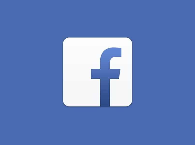 logo blanco facebook fondo azul claro