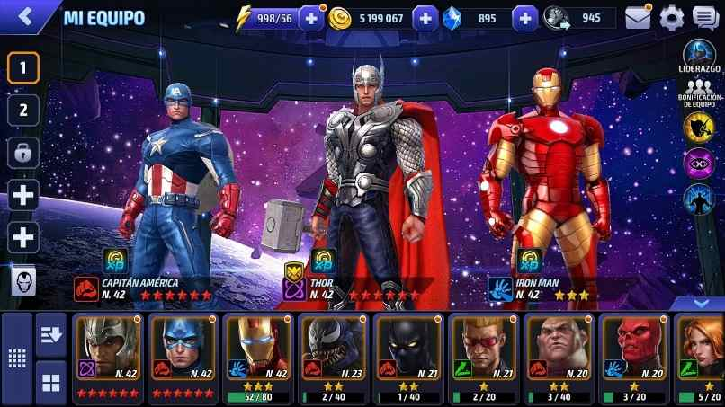 personajes juego marvel future figth