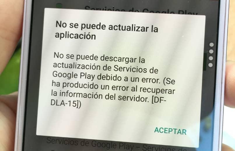 mensaje error recuperar informacion servidor