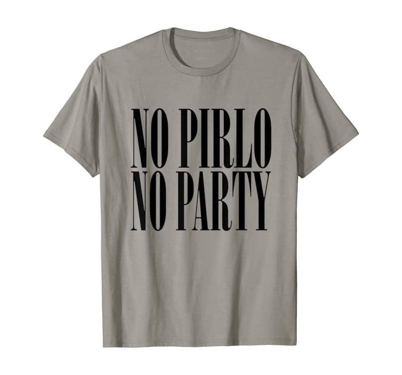 remera con mensaje no pirlo no party