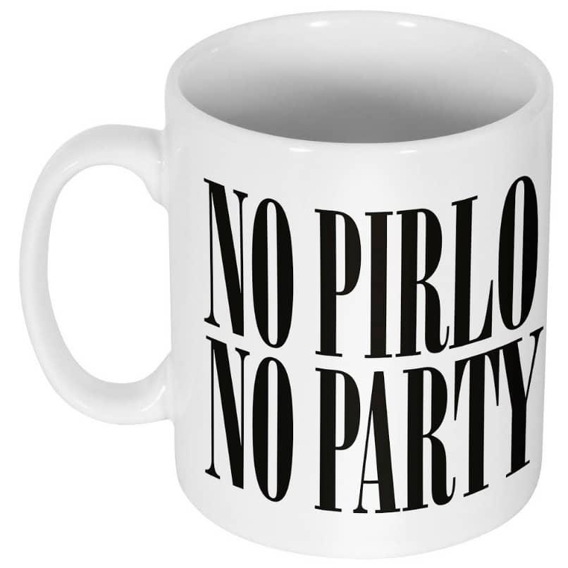 taza para cafe con mensaje no pirlo no party