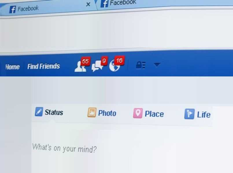 capture pantalla facebook notificaciones solicitudes sugerencias