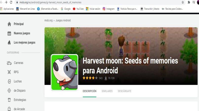 instalar harvest moon android