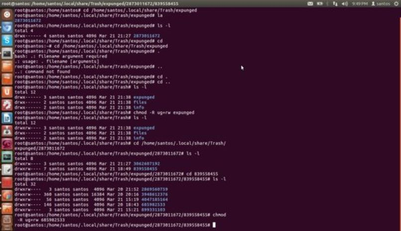 chmod cambiar linux