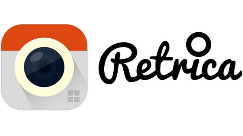 retrica logo color naranja fotos