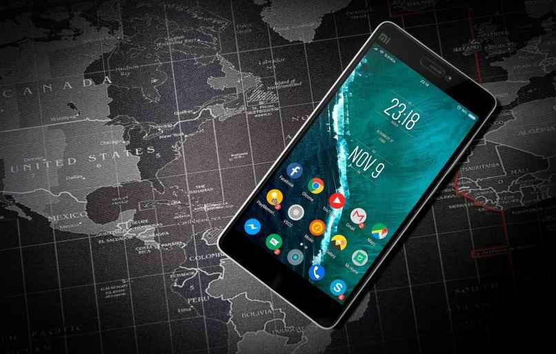 movil smartphone encendido