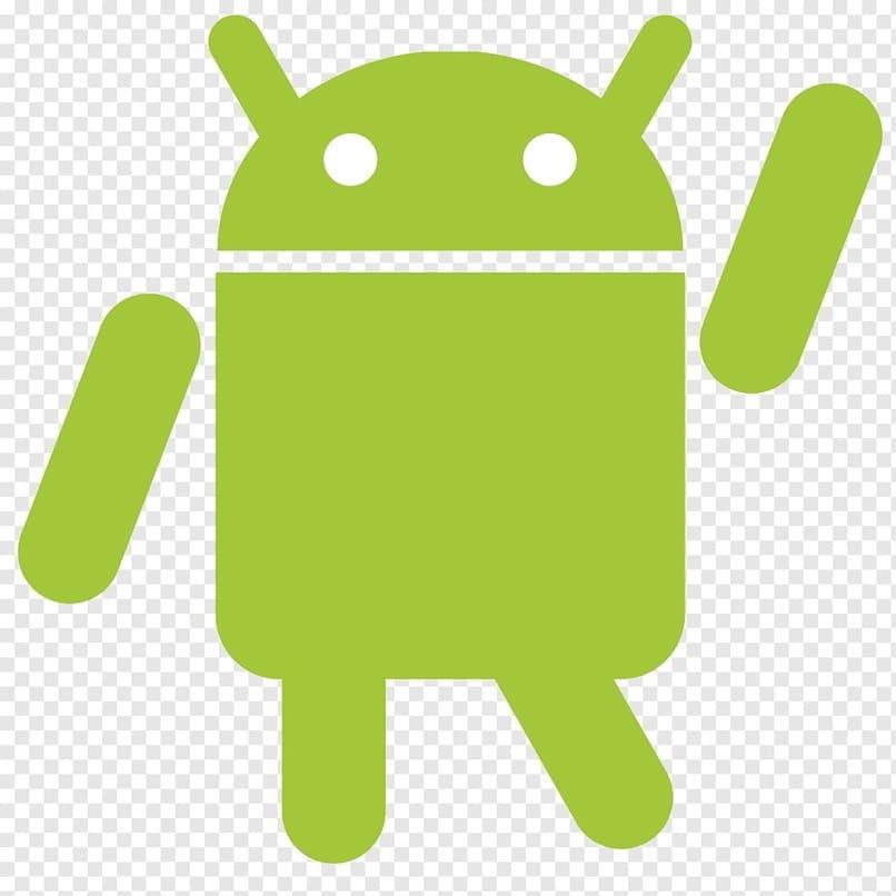 icono android con fondo blanco